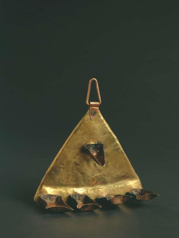 Triangular Hanukkah lamp