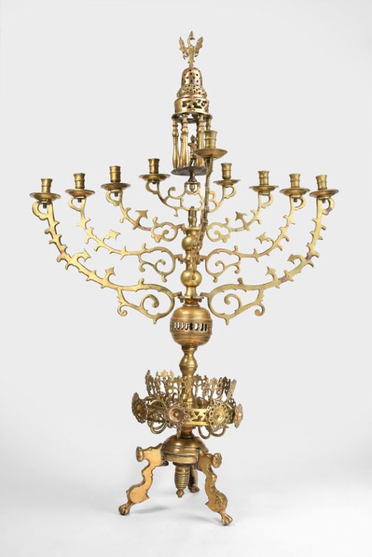 Synagogue Hanukkah lamp
