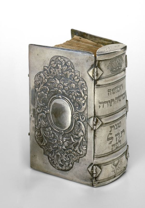 Silver binding for Pentateuch
