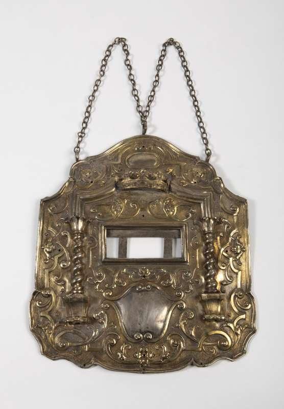 Torah shield with dedicatory inscription