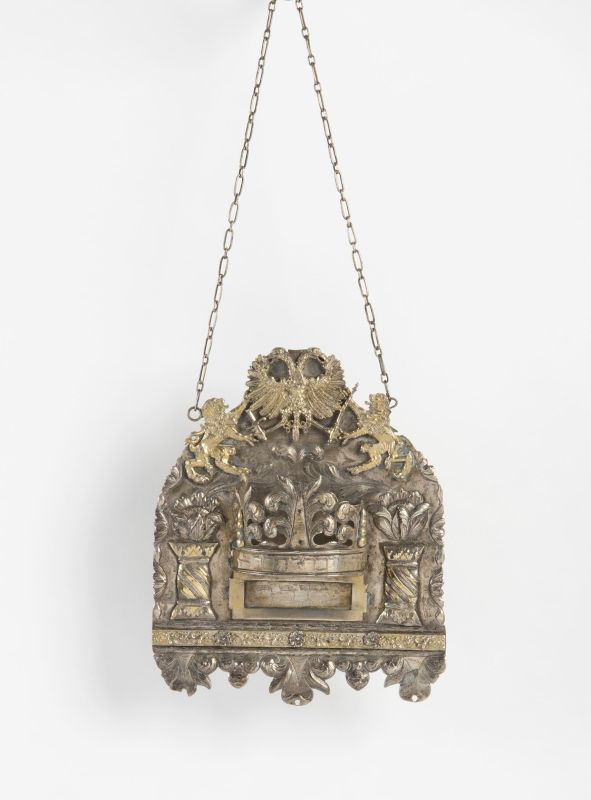 Torah shield with lions and double-headed eagle