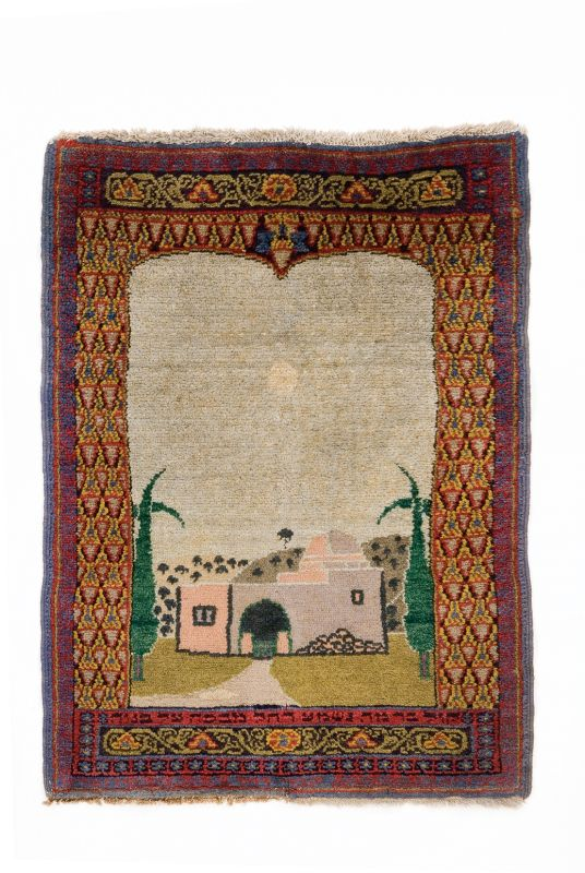 Small carpet with a depiction of Rachel's Tomb