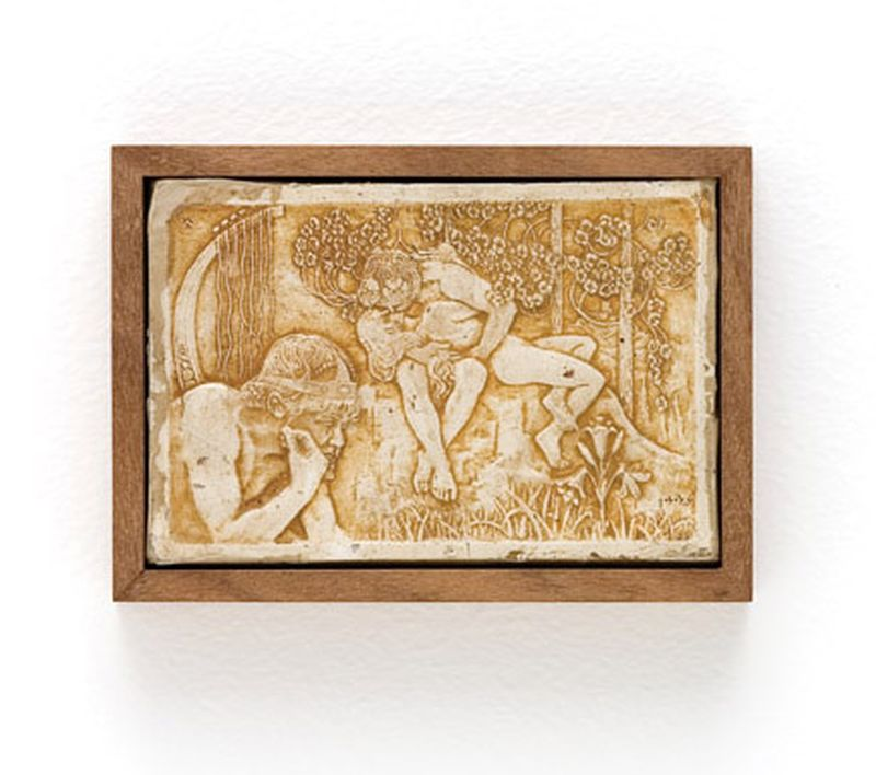 Plaque with a depiction of King David and Bathsheba