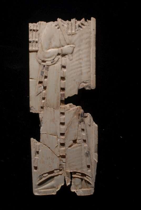 Furniture inlay: robed figure (the god Osiris?)