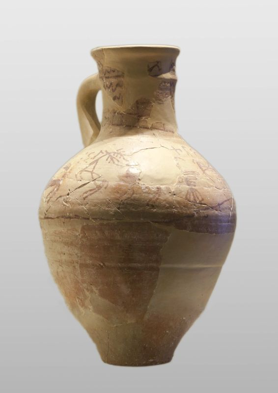 """""""Mattan. An offering to my Lady Elat,"""" dedication to a goddess on a jug"""