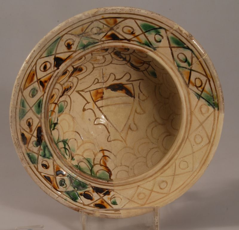 Bowl from northern Syria decorated with a shield motif