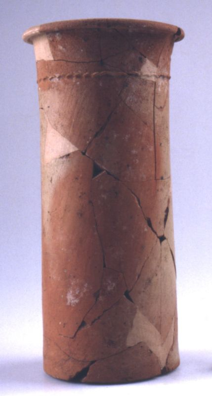 Cylindrical vessel for cheese from Egypt