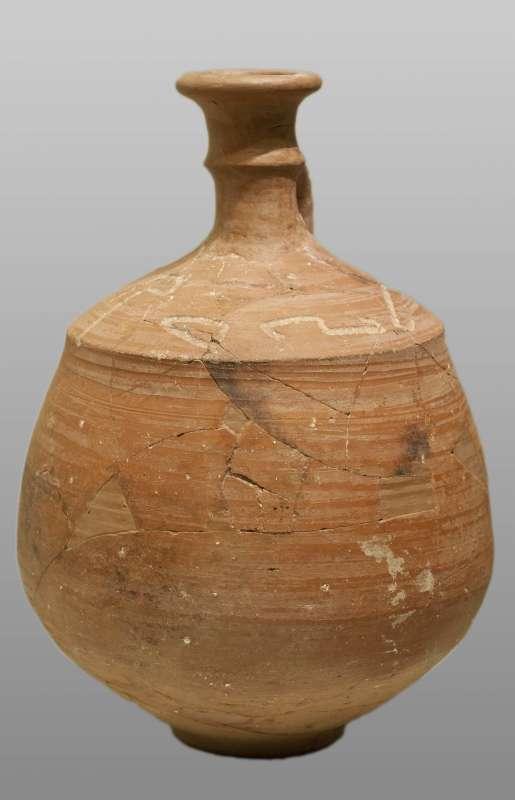 """""""(Belonging) to Zadoq,"""" Hebrew inscription on a jug"""