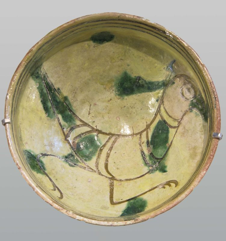 Bowl from Cyprus decorated with a bird