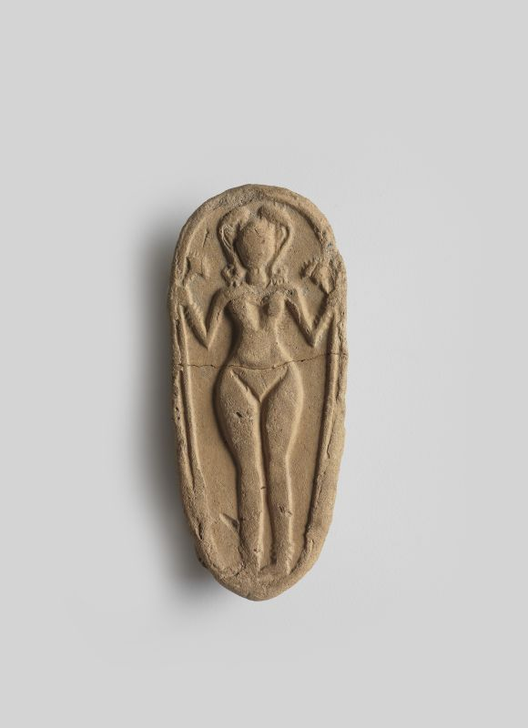 Figurine plaque of a naked goddess, used in household rituals