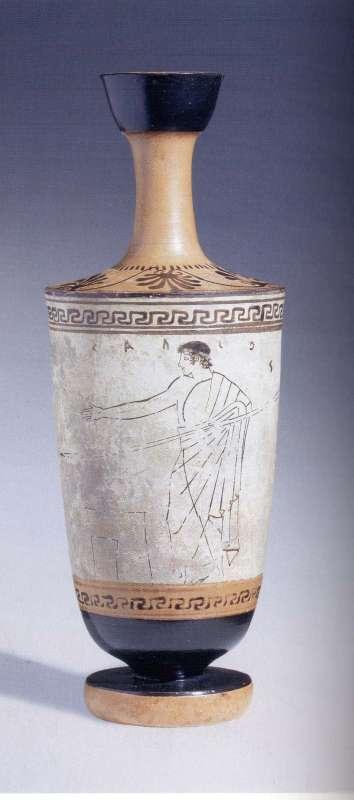 לקיתוס (כד שמן, לעתים שימש מנחת קבורה) לבן–רקע