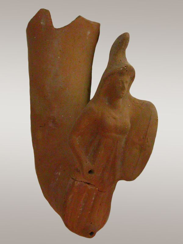 <i>Rhyton</i> decorated with the figure of Athena, goddess of war and wisdom