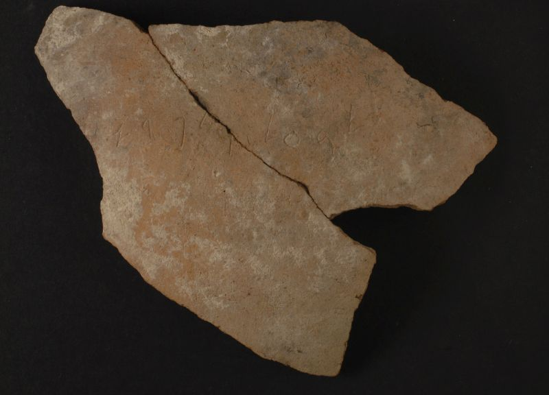"""""""(Belonging) to Baal and Padi,"""" inscription on a potsherd"""