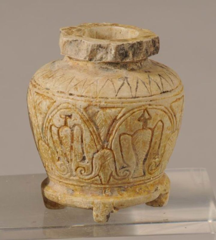 Egyptian-style cosmetic jar