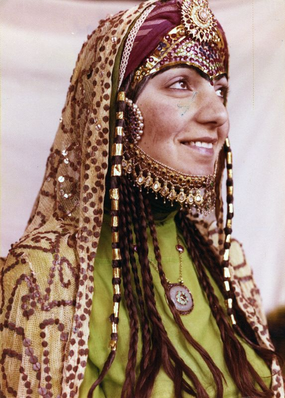 A bride adorned with zarak sequin ornamentation