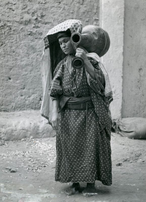 Jewish woman in traditional daily wear