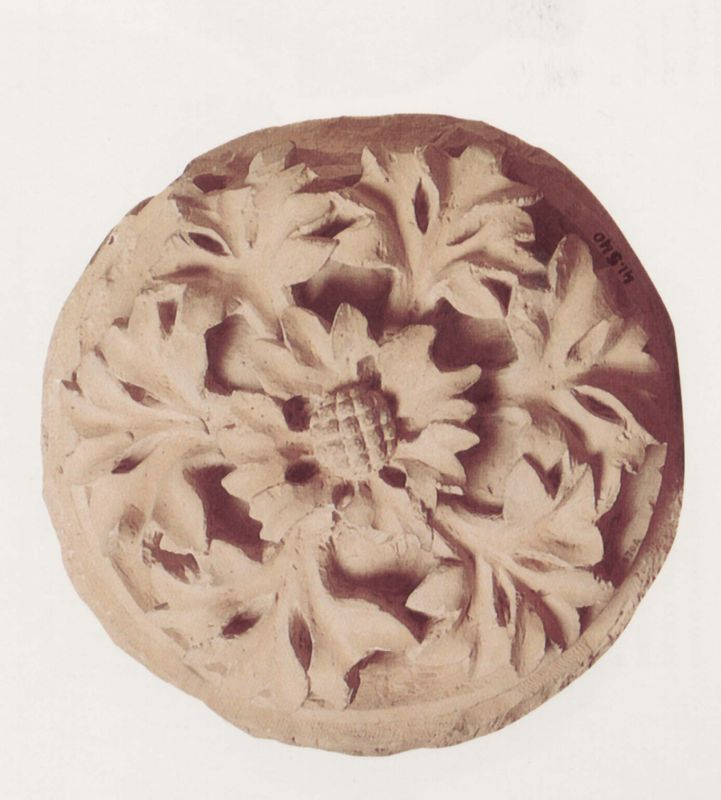 Keystone decorated with a rosette