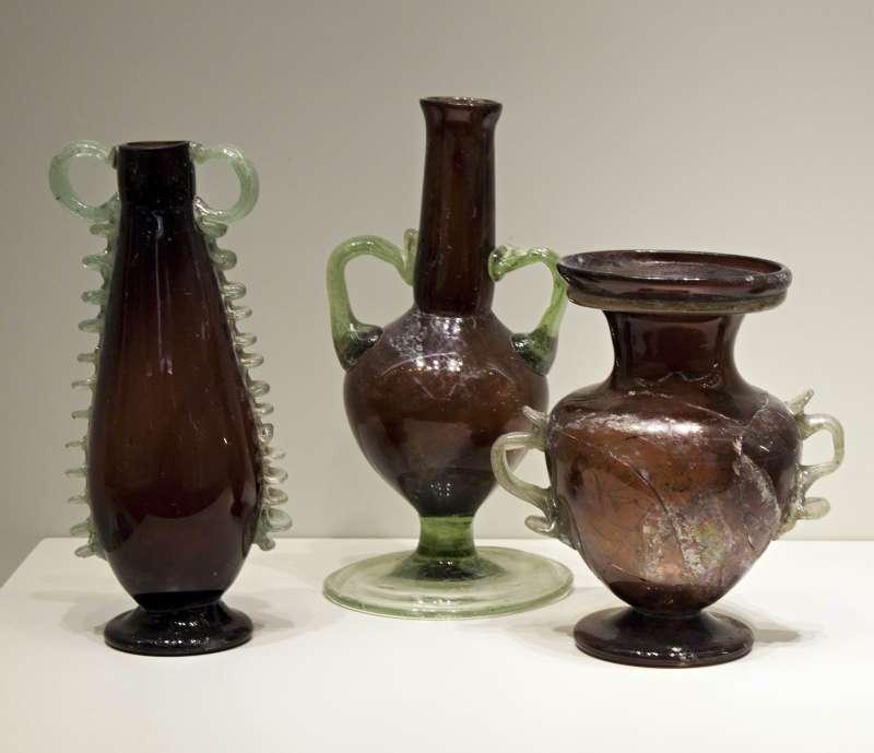 Purple glass vessels