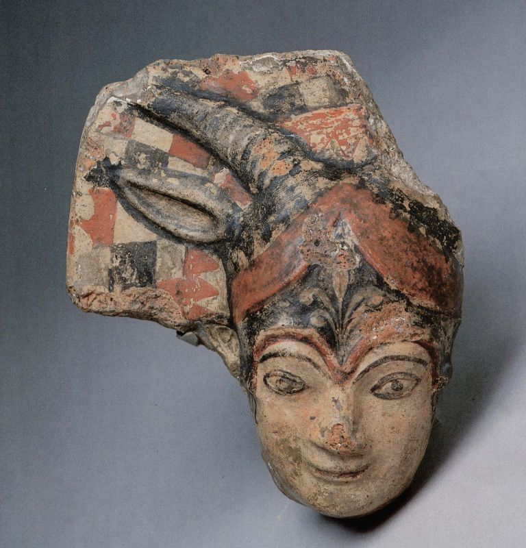 Antefix depicting the head of Juno Sospita
