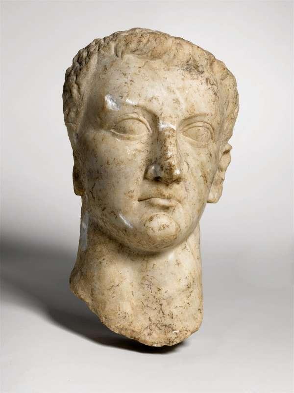 Portrait head of the Roman Emperor Tiberius