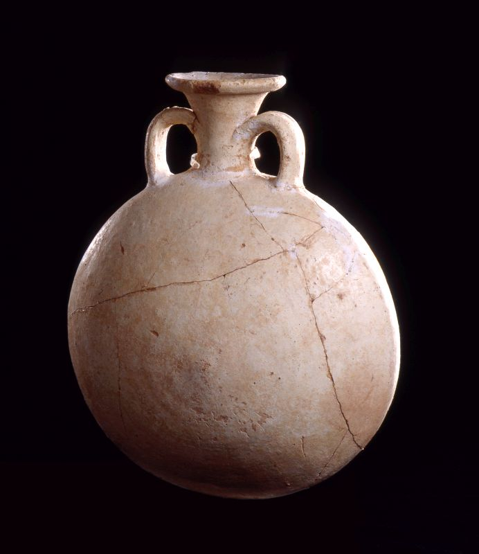 Egyptian-style pilgrim flask