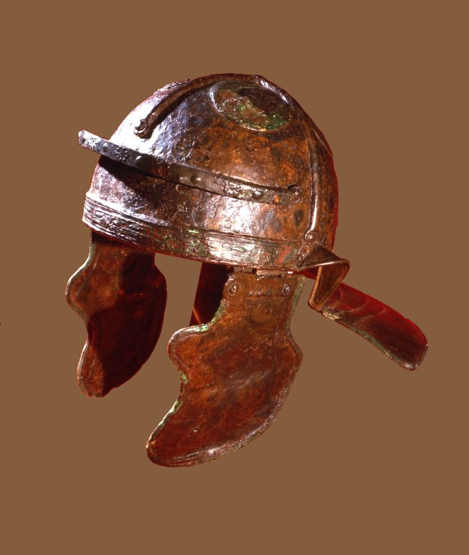 Legionnaire's helmet with neck and cheek guards