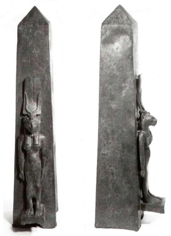 צלמית בדמות סח'מת, אלה בעלת ראש אריה, אשתו של פתח אל העיר ממפיס