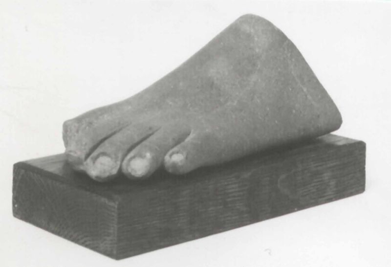 Foot from a composite statue of a female, most probably the queen