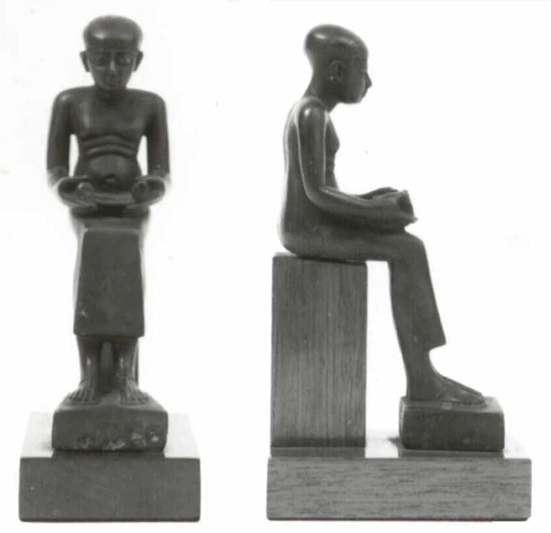 פסלון של אמחתפ בדמות סופר מצרי