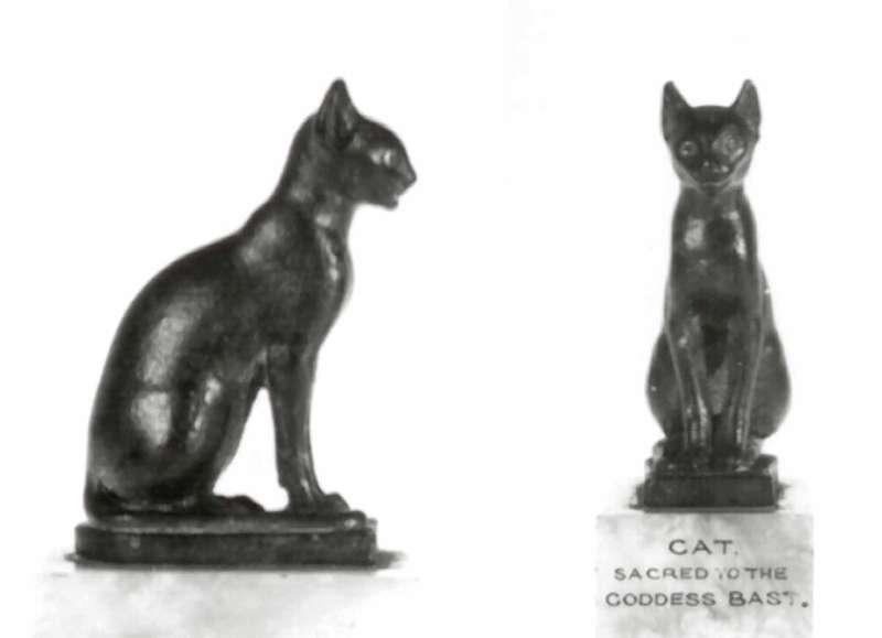 Statuette of a cat, animal manifestation of Bastet, mother goddess and goddess of fertility