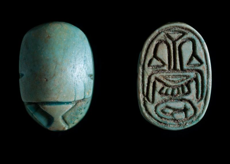 Scarab Depicting A Group Of Good Luck Signs And Symbols The Israel
