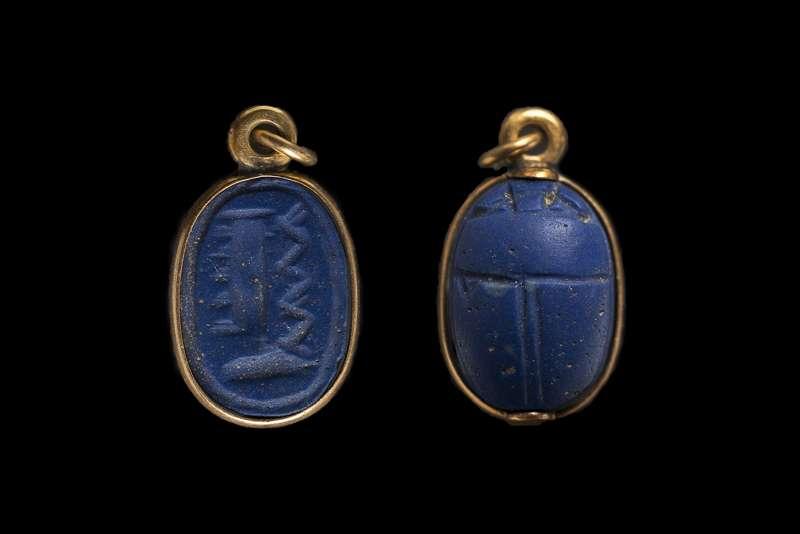 Scarab bearing the name of the god Amun