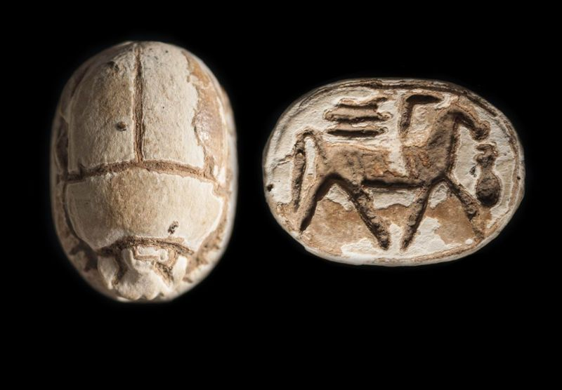 Scarab depicting a striding horse with the royal title