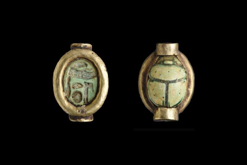 Scarab bearing an unclear inscription, probably a blessing