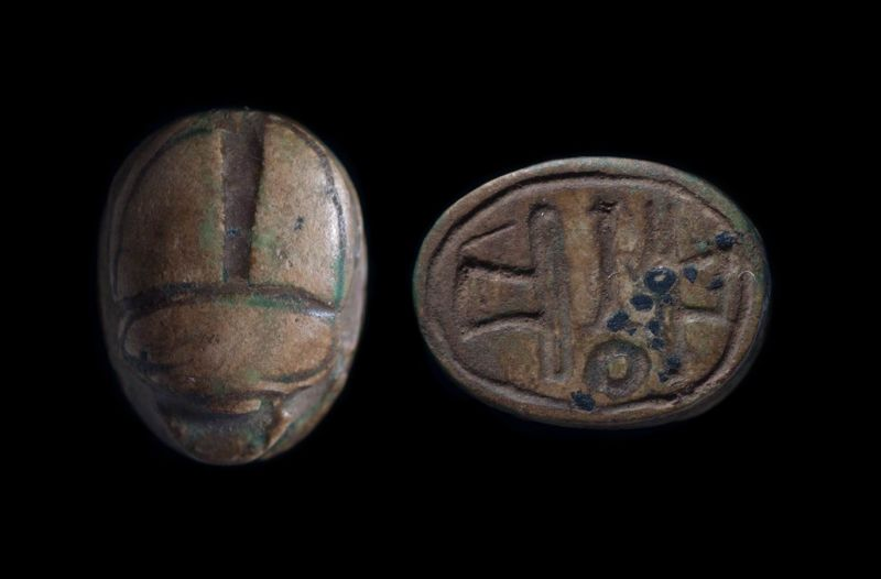 Scarab depicting a combination of signs suggesting a modern forgery