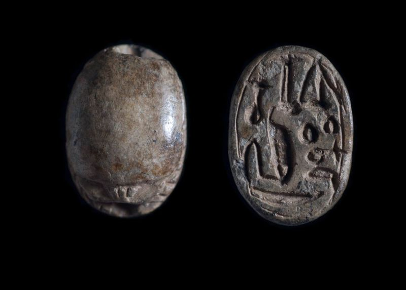 Scarab depicting a combination of unclear signs suggesting a possible forgery