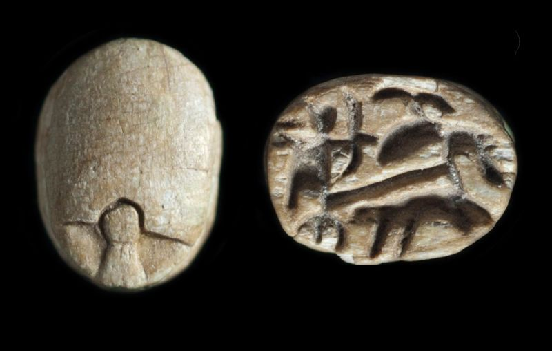 Scarab depicting the king in his chariot