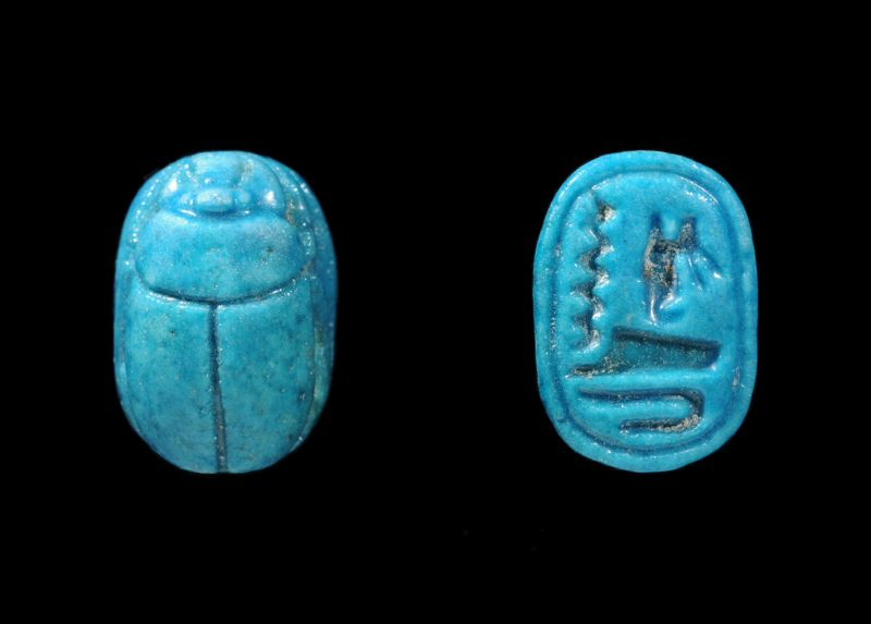 Royal-name scarab of the 5th Dynasty king Unas
