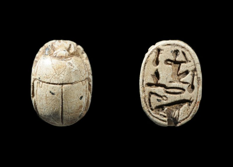 Scarab inscribed with a blessing formula