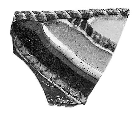 שבר שפה של קערת זכוכית פסיפס