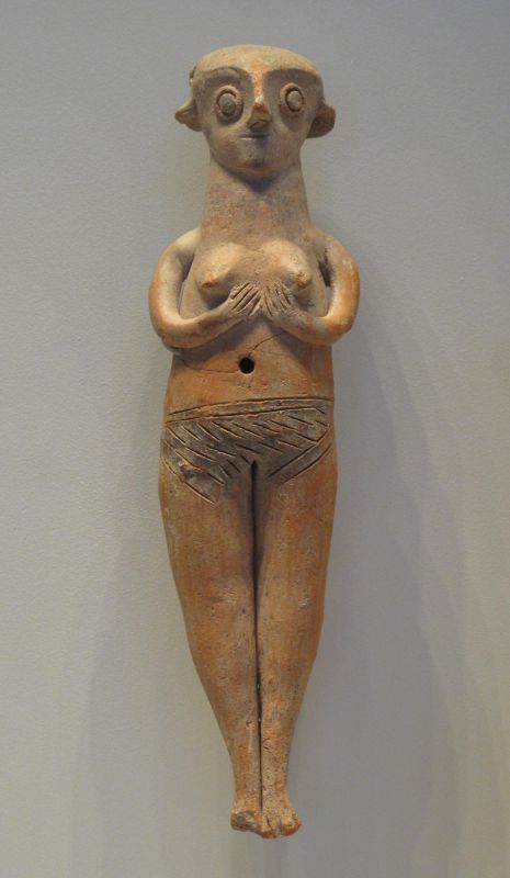 Figurine of a naked woman from Cyprus