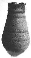Egyptian-style drop-shaped vessel