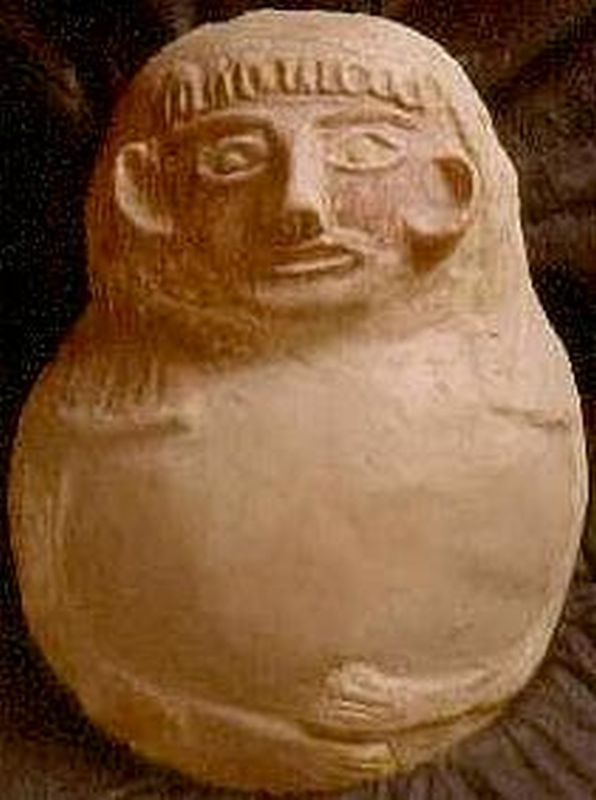 Lid of anthropoid coffin