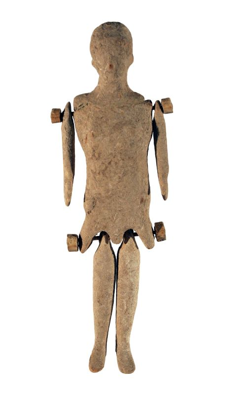 Corinthian doll with movable arms and legs