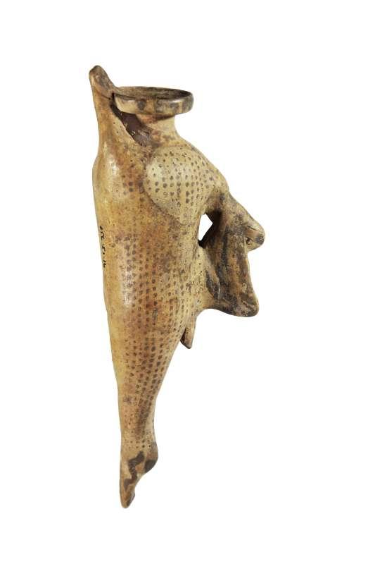 אריבלוס (בקבוקון לשמן או לבושם) בצורת ארנב מת