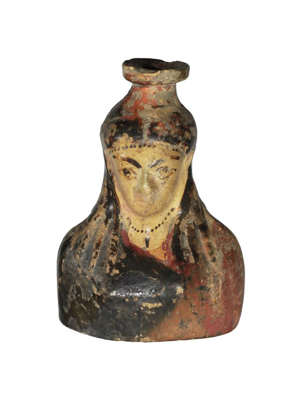 <i>Aryballos</i> (oil and perfume bottle) in the shape of a woman's bust
