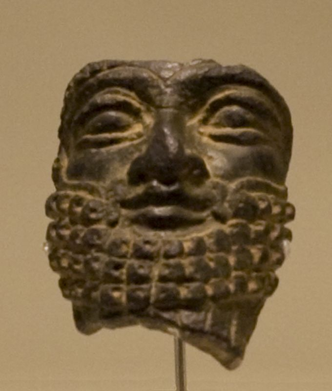 Face from a figurine portraying an Assyrian