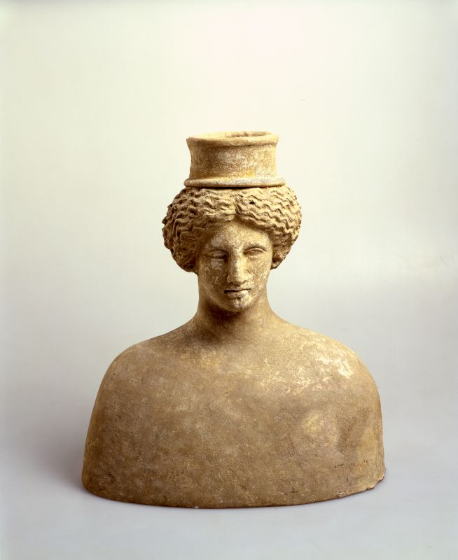Bust of a goddess, probably Persephone