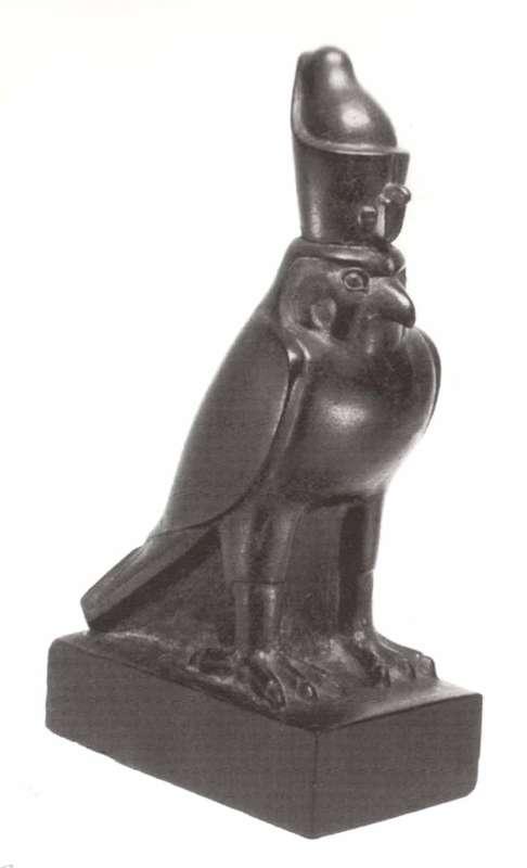 צלמית בדמות בז, ההתגלמות של הורוס המלך האלוהי בדמות בעל חיים