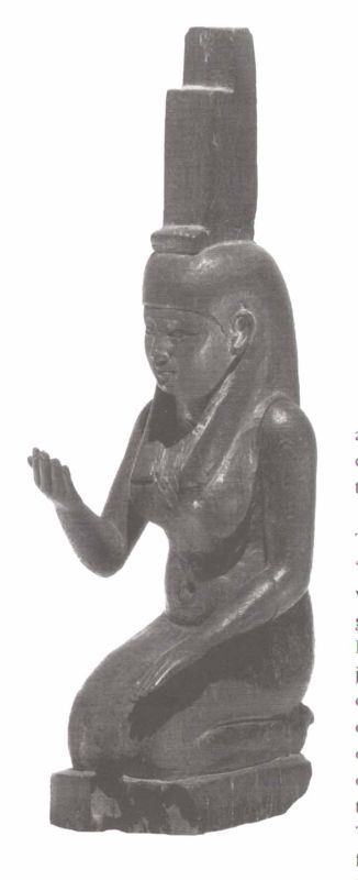 Statuette of Isis mourning, one of a pair depicting the goddess and her sister Nephthys